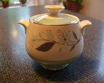 Homer Laughlin Spring Song Sugar Bowl 50s Vintage
