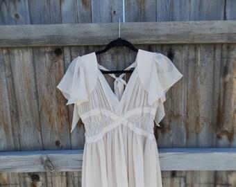 Vintage Dusty Pink Sheer Dress Size M