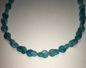 Tibetan Turquoise necklace in sterling silver