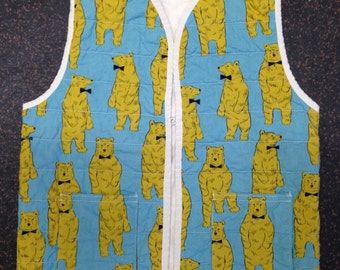 Quilted Bear Vest