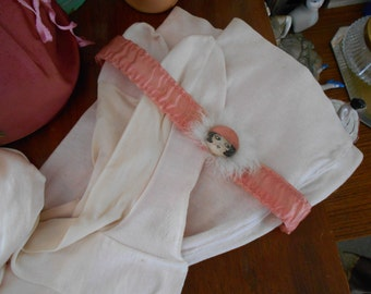Light Pink 1920's-40's Stockings