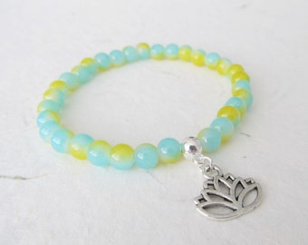Lotus bracelet, yoga bracelet, lotus jewelry