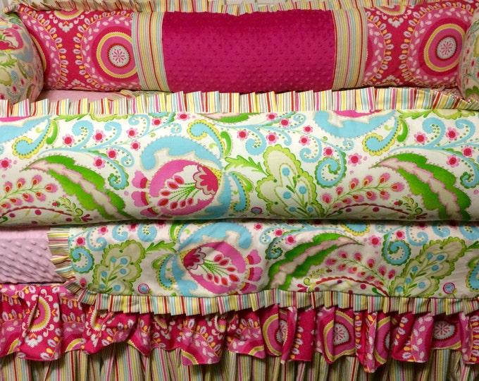 Custom Baby Bedding- Kumari Garden Custom 4 pc Baby Bedding- Baby girl bedding