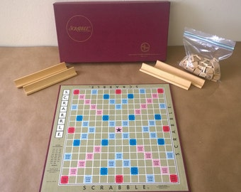 Exceptional Scrabble Game in Near Mint Condition 1970's