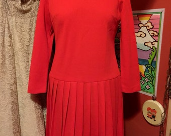 Plus Size Red Polyester Bleeker Street Dress