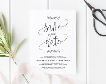Save the Date Printable, Save the Date Template, Rustic Save The Date, Wedding Printable, Wedding Template, PDF Instant Download #BPB202_2