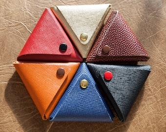Saffiano leather coin purse