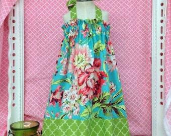 Custom Made Bliss Bouquet Girls Summer Halter Dress