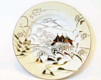 "Antique Japanese TMK China Geisha Girl Lithopane 8"" Side Plate"