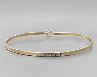Hope Engraved Bangle