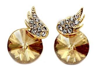 Elegant mini wings diamond earrings