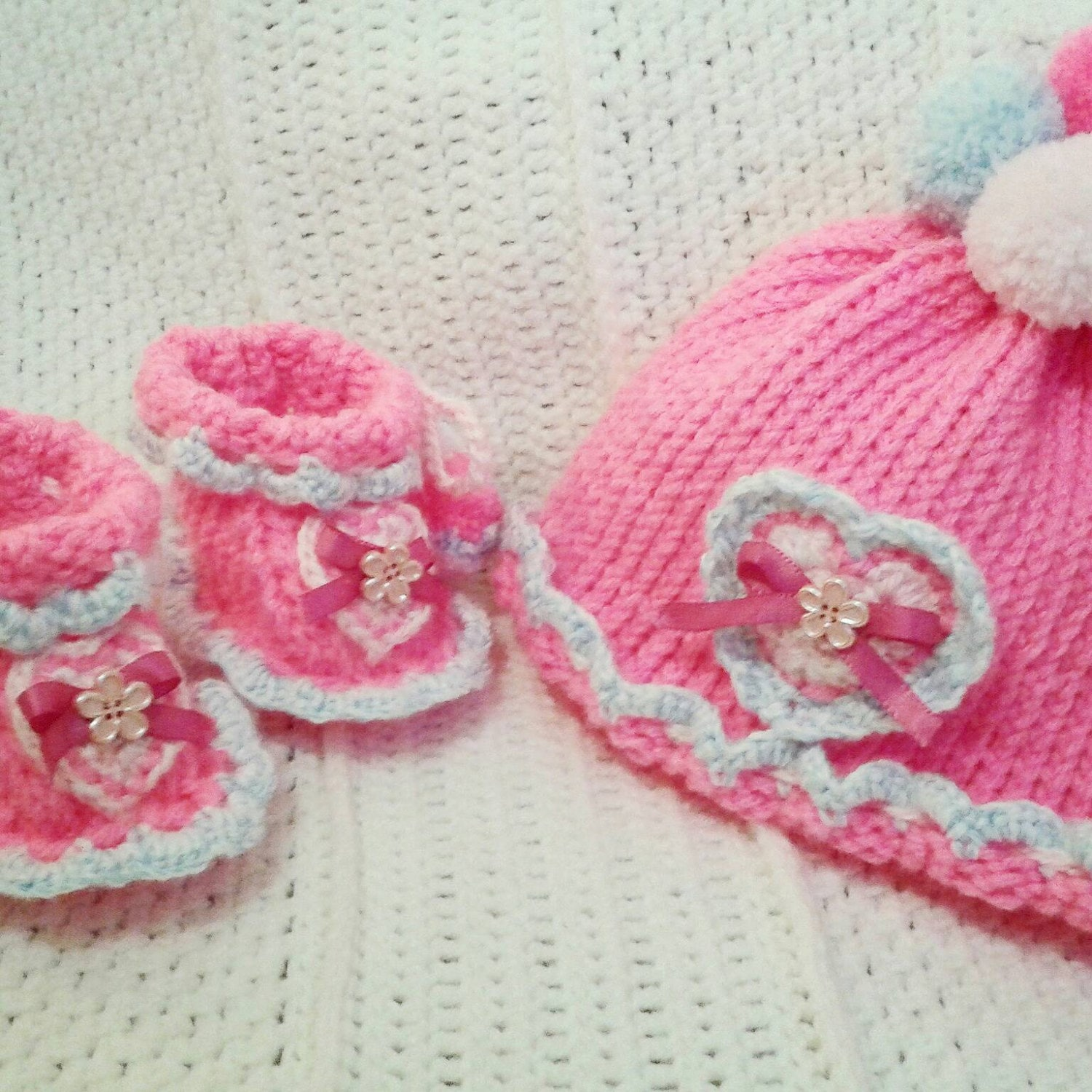 20% off with code JB1LOVE. Knit Baby Girl Hat by JeremiahBaby1