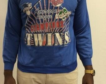 SALE 1991 Minnesota Twins Pullover Sweater