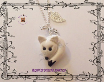white fox collar Fimo
