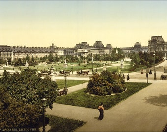 24x36 Poster . The Louvre, Paris, France. Photochrom 1890