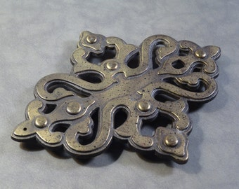 Brass Trivet Made From Old Cabinet Hardware