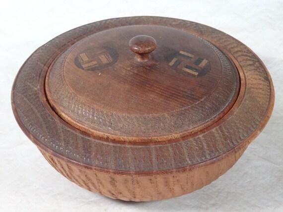 Navajo Whirling Logs Wood Trinket Box