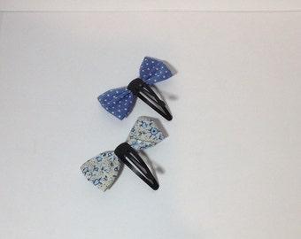 Mini hair clip bows
