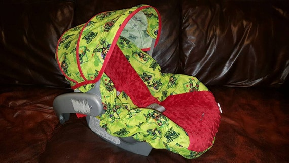 ready to ship tmnt car seat cover ninja turtles car seat. Black Bedroom Furniture Sets. Home Design Ideas