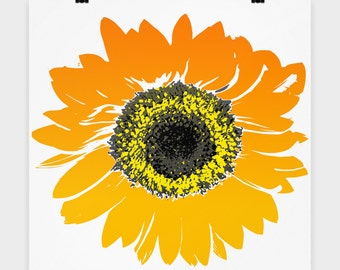 "16""x16"" Sunflower Print, Flowers Print, Spring Flowers Poster,Decoration,  Decor"