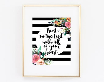 Trust in the Lord Digital Download | Printable Art Printable Wall Art Office Decor Bedroom Decor Printable Wall Art Gift Bathroom Decor