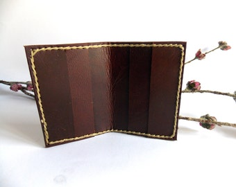 Leather wallet card-holder