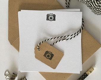 Camera Letterpress Notecards (Pack of 8)