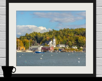 Boothbay Harbor - Maine Coast Photo and Canvas Print
