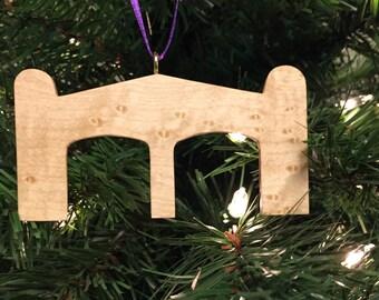Montreat Gate Christmas Ornament - Bird's Eye Maple