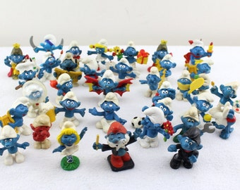 35 pieces Vintage collection figure 70s 80s Smurfs West Germany Europe figures