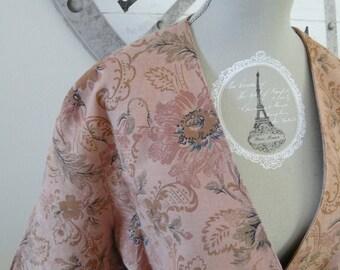 jacket printed pink vintage 80s
