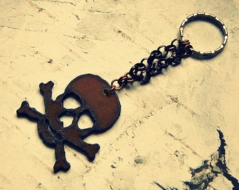 Pirate Keychain For Men, Skull And Crossbones Keychain, Pirate Key Chain For Women, Skull And Crossbones Gift