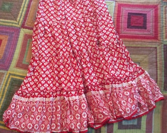 Boho Americana Tiered Prairie Skirt