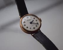 BENTIMA Star  17 Jewel INCABLOC 9ct Gold Watch with Leather Strap
