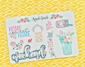 Sticker & Shabby chic home sweet home