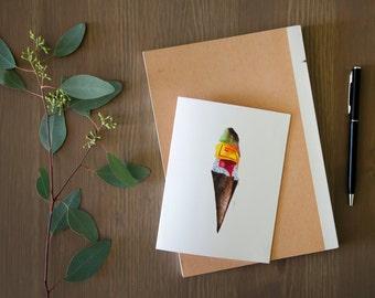 Ice Cream Cone Greeting Card