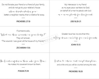 Bible Verses on Friendship - Instant Download
