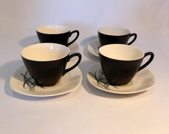 "Midwinter Stylecraft ""Bali Hai"" cups and saucers - original from the 1960s"