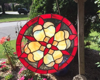 Stained Glass Floral Burst