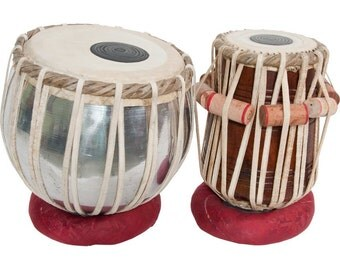 Handmade Authentic Indian Tabla Set w/ Case