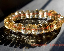 AAA Natural citrine bracelet, yellow gemstone stretch bracelet- gold color healing bracelet- yoga natural bracelet, citrine faceted bracelet