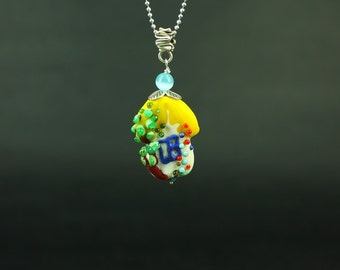 Solar house - a necklace with designer bead lampwork