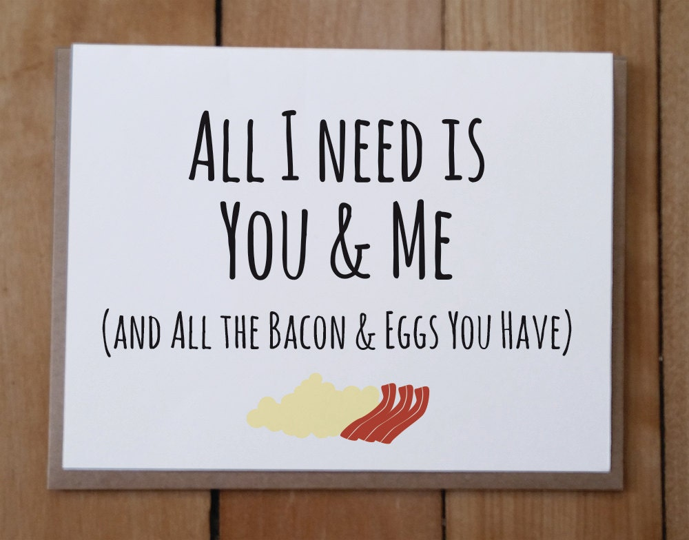 Bacon card – Funny Valentine Card Quotes