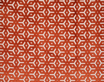 DESIGNER APOLLINA BELGIUM Belgium Cut Velvet Fabric 10 Yards Persimmons