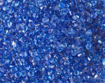 Synthetic indigo blue rhinestone 3mm (not drilled)