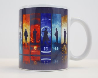 Doctor Who 12 Doctors Ceramic Coffee Mug