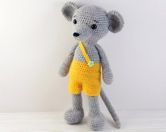 PATTERN : Mouse -Mice - Amigurumi Mouse pattern-Crochet pattern-Knitted Stuffed animals- doll-toy-baby shower-rat