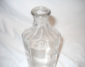 Antique Pharmacy Bottle, Clear Glass, 400cc, J.T.&A. Hamilton Glass Co. 1931