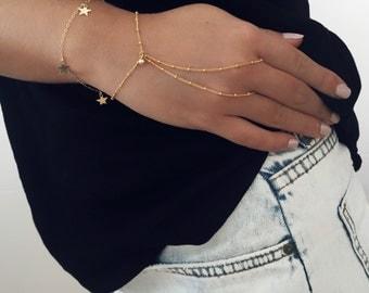 Hand chain, gold bracelet, delicate bracelet, wrist jewelry, perfect gift, bridesmaids bracele, prom
