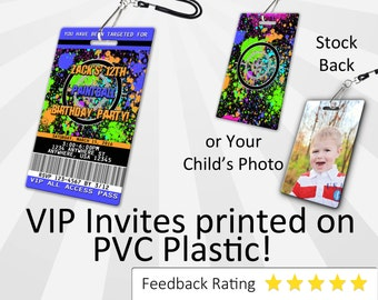 Paintball Invitation PLASTIC Paintball, Paintball Invitation, Birthday Invitation, Birthday Invite, Paintball Birthday Invitation